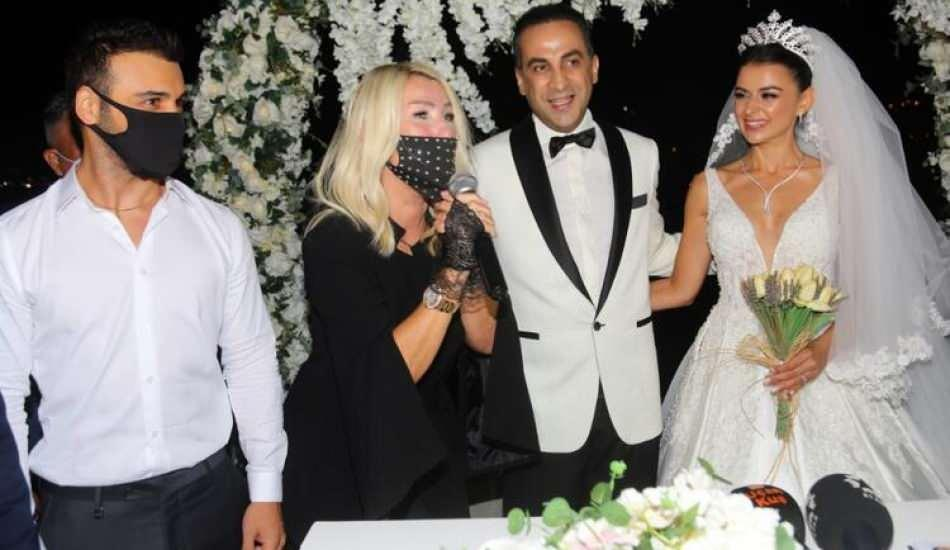 Ünlü isimleri buluşturan düğün! Sinan Güzel ve Seval Duğan evlendi