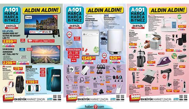 A101 aktüel 24 Eylül kataloğu! Bugün Elektronik, mobilya, ve züccaciye ürünlerinde indirim!
