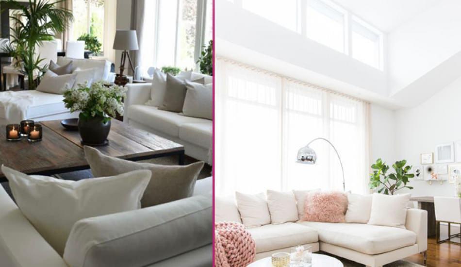 Beyaz odaları renklendirmeyi kolaylaştıracak yöntemler
