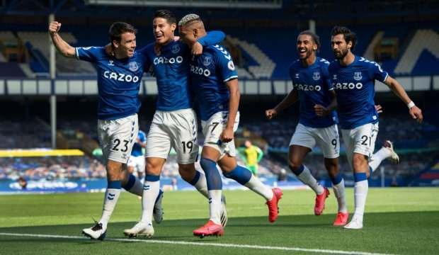 Everton, West Bromwich'e karşı şov yaptı