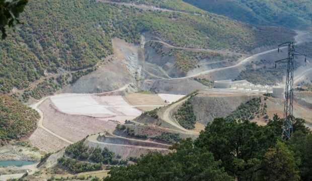 Turhal Barajı'nda çalışmalar sürüyor