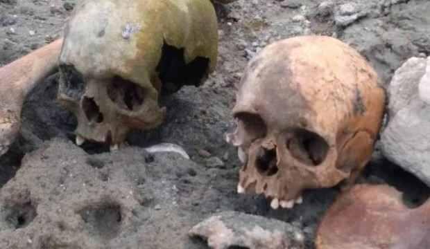 Çanakkale'de 4 kafatası ve kemikler bulundu