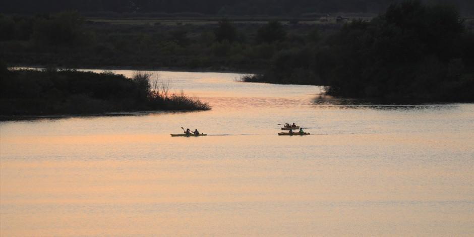 Meriç Nehri'nde kano turu keyfi