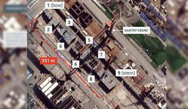 Uydu casusluğu: ABD Çin'in uçak gemisi inşaatını görüntüledi