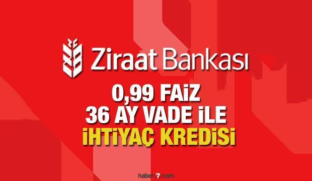 Ziraat Bankası 0.99'dan 36 ay vade ile ihtiyaç kredisi sunuyor? Kredi başvuru ekranı