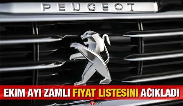 Peugeot Ekim ayı sıfır araç modellerine zam yaptı! 308, 208, 301, 5008 fiyatları...