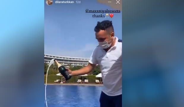 İYİ Partili vekilin kızı  cuma vakti şampanya patlattı