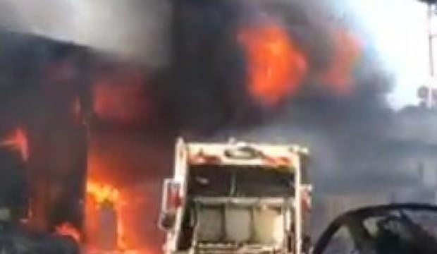 Mersin'de sanayi sitesinde büyük yangın