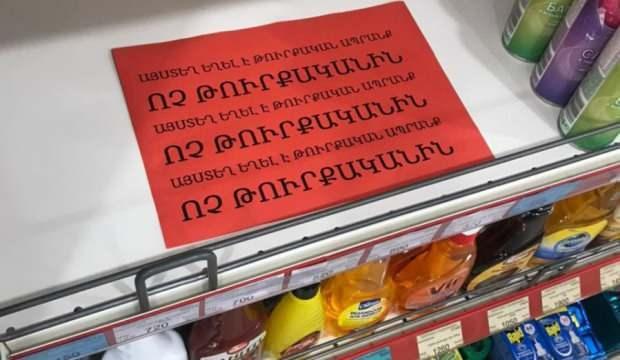 3 milyonluk Ermenistan'dan Türk mallarına boykot!