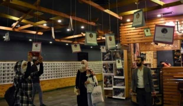 Esed'in zulmünden kaçamayan çocuk kurbanların sergisi