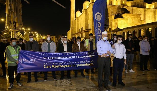 Fatih Camii'nde ölen Azerbaycanlı siviller için gıyabi cenaze namazı kılındı