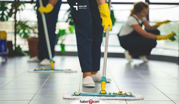 İŞKUR'dan temizlik görevlisi alımı sona eriyor!