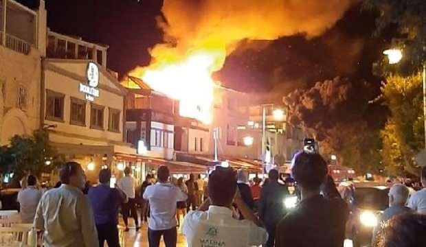Bodrum'da çıkan yangın korkuttu!