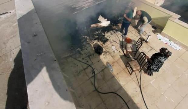 Çatı katında mangal yaparken yangın çıktı