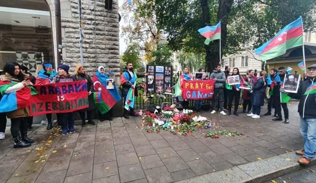 İsveç'te, Ermenistan'ın saldırılarında hayatını kaybeden Azerbaycanlılar anıldı
