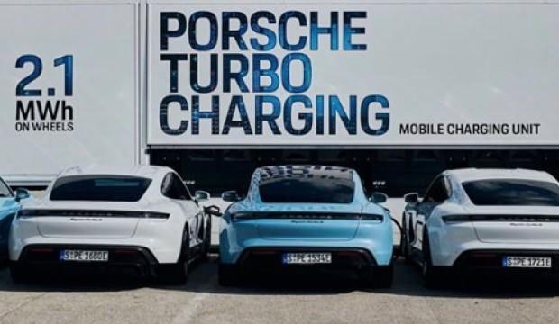 Porsche Taycan için mobil çözüm Budapeşte'de görüntülendi