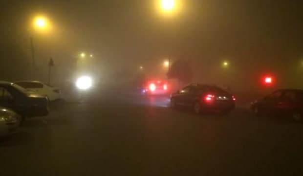 Silivri'de yoğun sis sürücülere zor anlar yaşatıyor