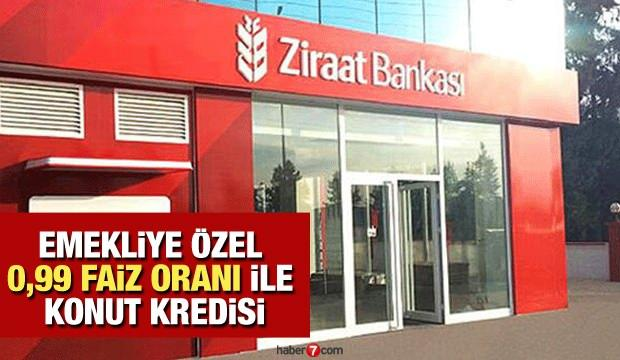 Ziraat Bankası'ndan 0,99'dan 120 ay taksitle emekliye özel Konut Kredisi! Kredi başvuru ekranı