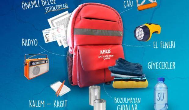 Deprem çantası nasıl hazırlanır? Deprem çantası malzemeleri...