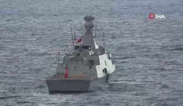 Kınalıada korveti 29 Ekim için Antalya açıklarına demirlendi
