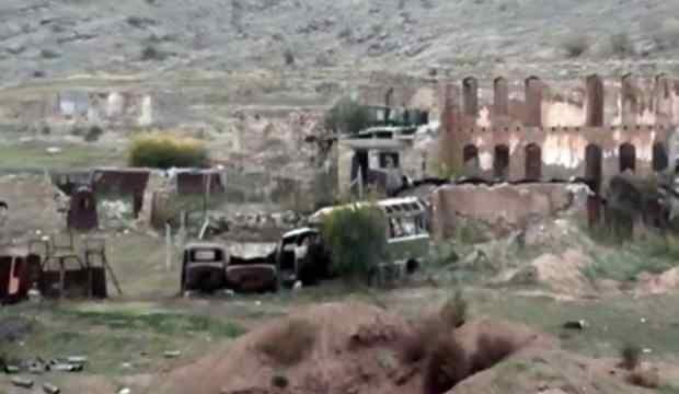 Azerbaycan ordusunun 27 yıl sonra işgalden kurtardığı Fuzuli ve Cebrail görüntülendi