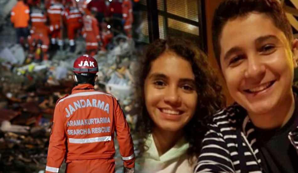 Depremde hayatını kaybeden ikiz kardeşlerin son görüntüsü!