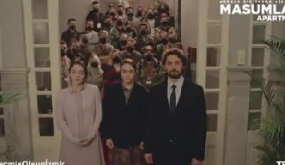 Masumlar Apartmanı dizisinin setinden 'İzmir'e geçmiş olsun' mesajı!