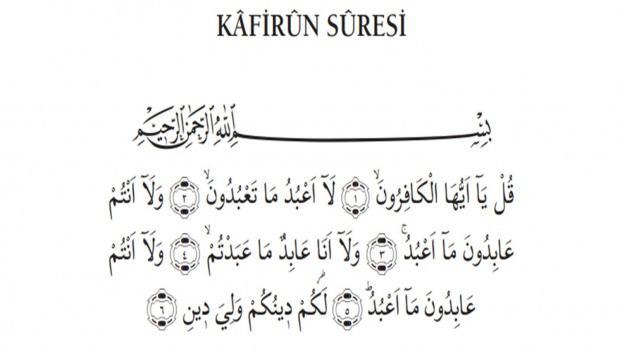 Kafirun Suresi kelime anlamı ne demek? Kafirun Suresi Arapça ve Türkçe okunuşu...