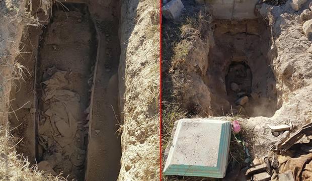 Karabağ'da bu da oldu: Mezarlarını açıp kemiklerini alıyorlar