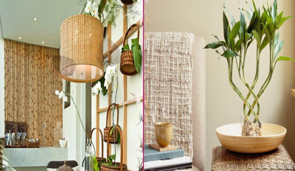Banyo ve aksesuarlarda bambu dekorasyonu önerileri