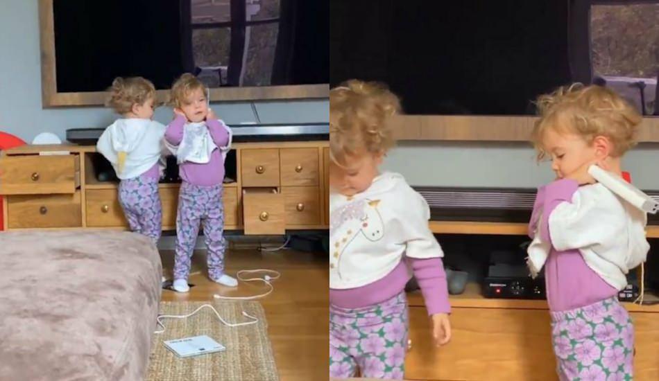 Pelin Akil'in ikizleri yine sosyal medyayı salladı!