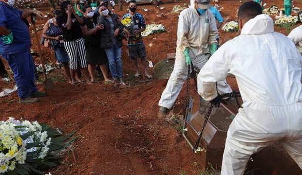 Brezilya'da 170 bine yakın kişi Kovid-19'dan hayatını kaybetti