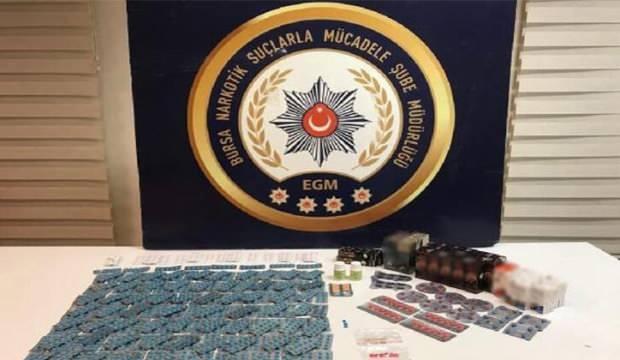 Bursa'da binlerce uyuşturucu hap ele geçirildi