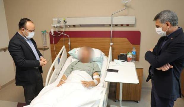 Elazığ ve Tunceli valilerinden yaralı askerlere ziyaret