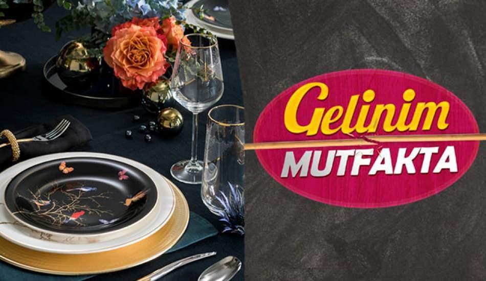 Gelinim Mutfakta tabakları hangi marka? Karaca Bride yemek takımları