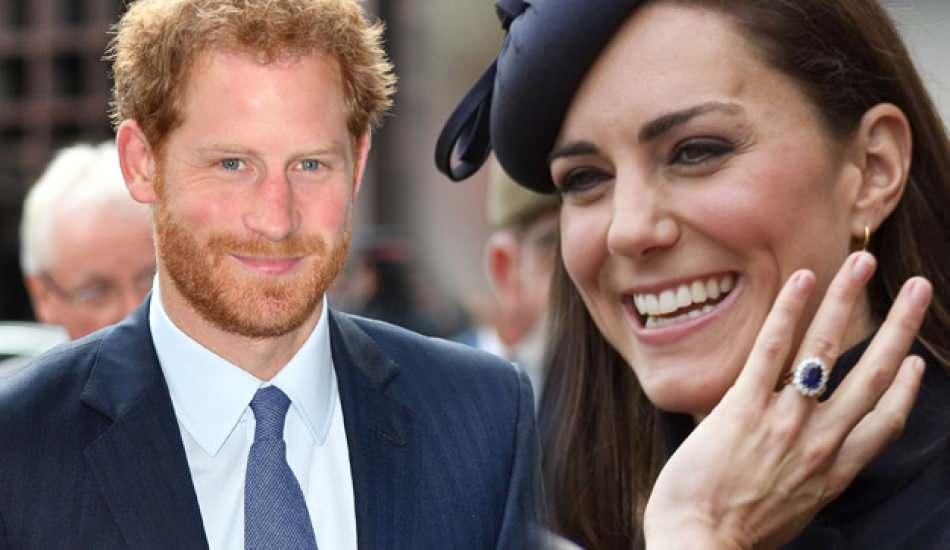 Kate Middleton'ın yüzüğü daha önce Prens Harry'de olduğu ortaya çıktı!