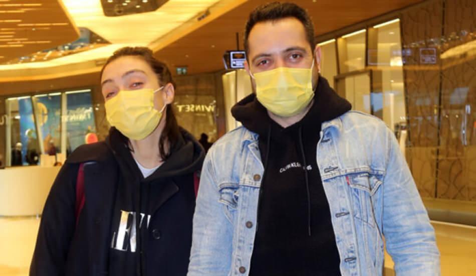 Merve Dizdar ve eşi Gürhan Altundaşar alışverişte görüntülendi!