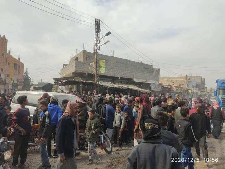 Deyrizorlu Araplar, terör örgütü YGP/PKK'nın halkı yakıttan mahrum bırakmasını protesto etti