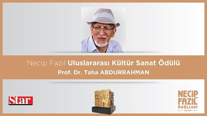 Necip Fazıl Uluslararası Kültür Sanat Ödülü: Prof. Dr. Taha Abdurrahman