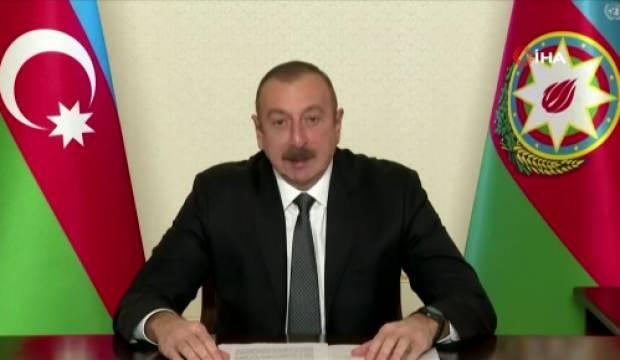 Aliyev'den BM Genel Kurulunda dünyaya önemli mesaj