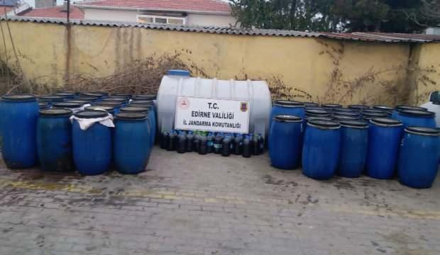 Akıllanmadılar! 5 bin litre sahte içki ele geçirildi