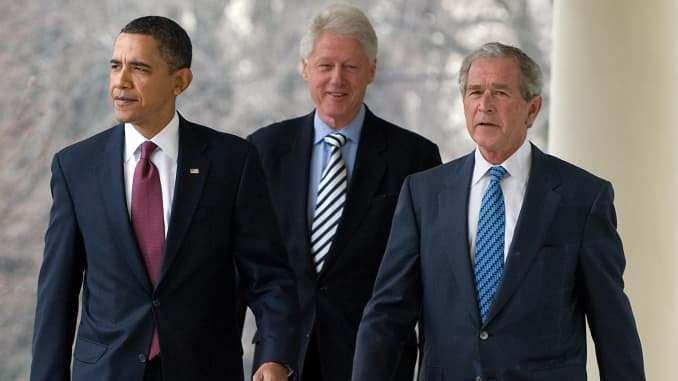 Barack Obama, George W. Bush ve Bill Clinton