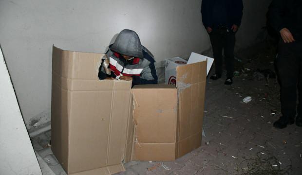 Türkiye'ye kaçak yollarla girmişti! Karton koli içinde yakalandı