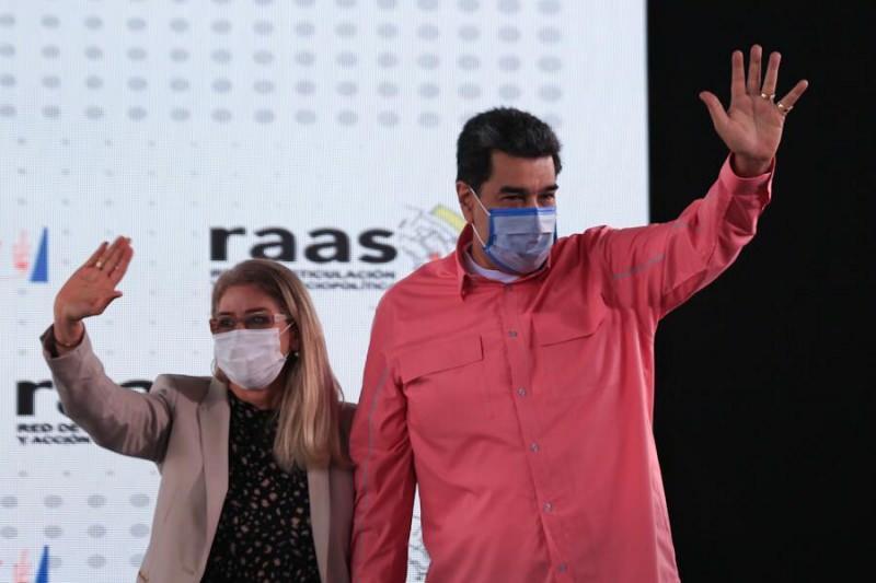 Nicolas Maduro ve eşi Cilia Flores