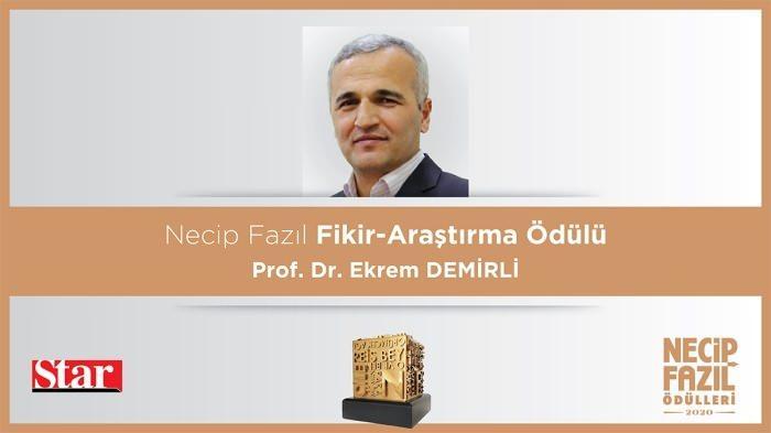 Necip Fazıl Fikir-Araştırma Ödülü: Prof. Dr. Ekrem Demirli