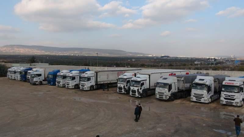 Kilis'ten Suriye'ye 30 TIR yardım gönderildi