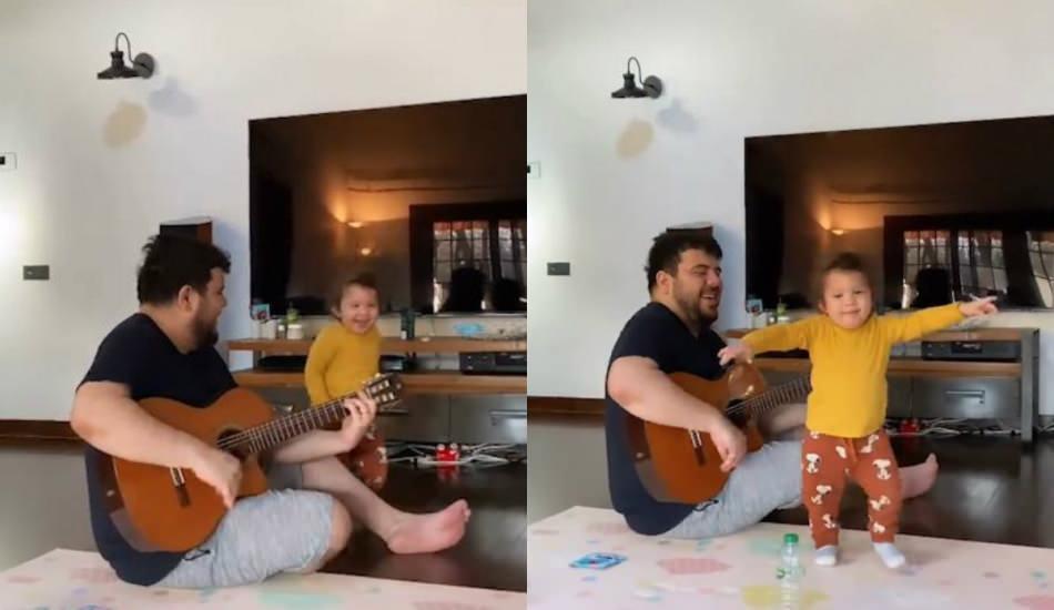 Eser Yenenler ve oğlu Kuzey'den gitar resitali!
