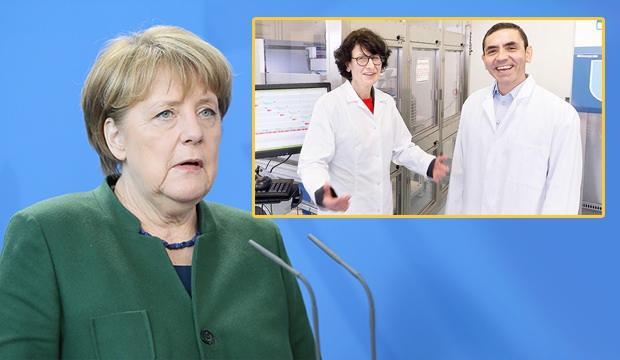 Merkel, Kovid-19'a karşı aşı geliştiren Prof. Dr. Şahin ve eşi Dr. Türeci'yi övdü