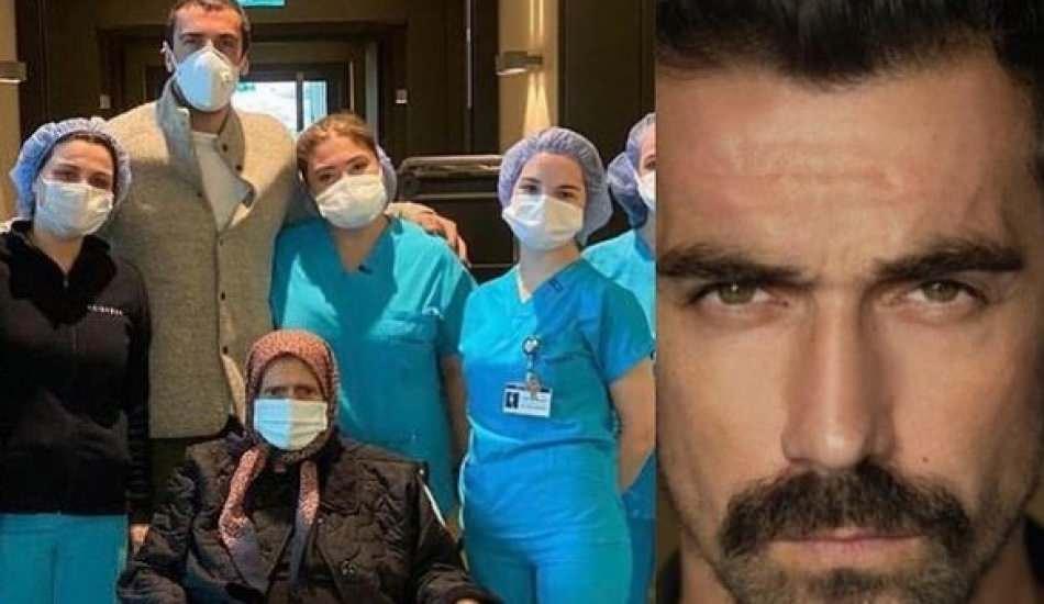 Oyuncu İbrahim Çelikkol'un anneannesi koronavirüsü atlattı!