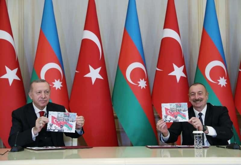 Cumhurbaşkanı Recep Tayyip Erdoğan veAzerbaycan Cumhurbaşkanı İlham Aliyev